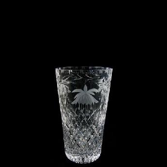 6 inch Con Vase Fucshia
