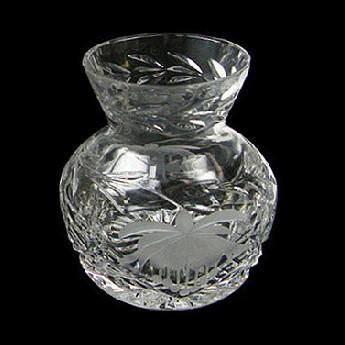 Fuchsia 4 inch Straight Sided Thistle Vase