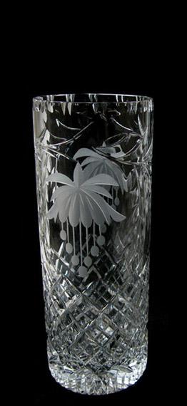 8 inch Cylinder Vase Fuchsia