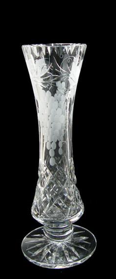 9 inch Footed Specimen Vase Grapevine
