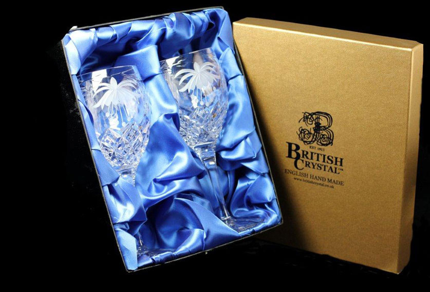 Presentation Box of 2 Fuchsia Goblets