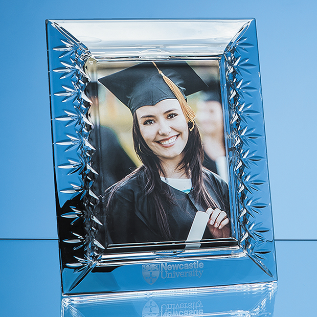 25cm Lead Crystal Panelled Photo Frame for 5