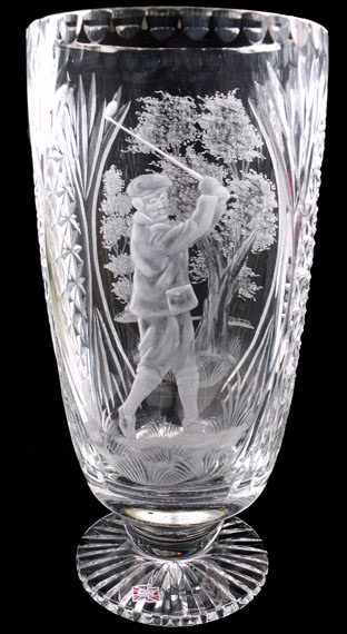 Larger JT Vase Piper Male Golfer