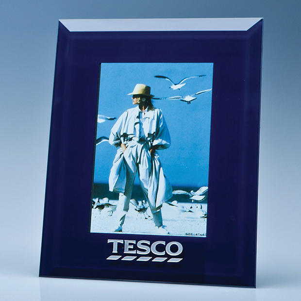 Navy Surround Glass Frame for 4
