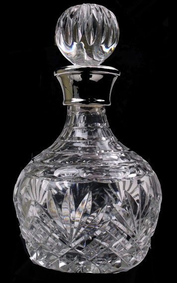 Brandy Decanter Westminster with Sterling Silver Collar