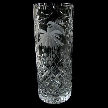 12 inch Cylinder Vase Fuchsia