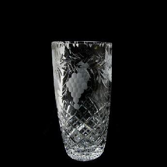 7 inch Barrel Vase Grapevine