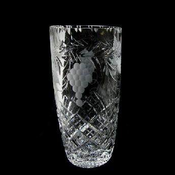 9 inch Barrel Vase Grapevine