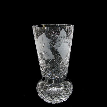 9 inch Sweet Pea Crystal Vase Grapevine