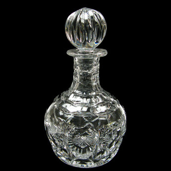Brandy & Port Decanter Cross & Hollow