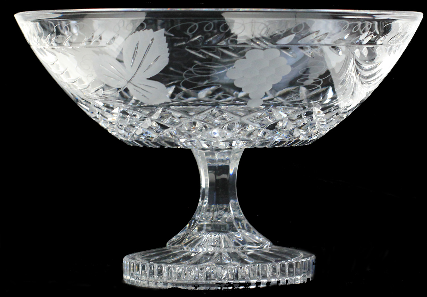 Straight Sided Footed Bowl Grapevine