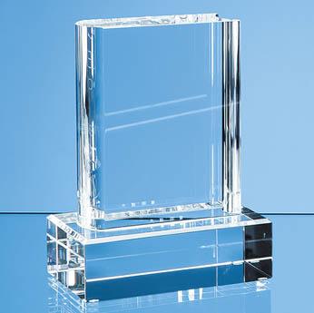 12.5cm Optical Crystal Book Award