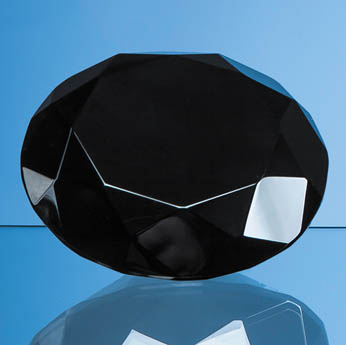 10cm Onyx Black Diamond Paperweight