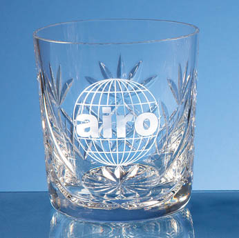 300ml Blenheim Lead Crystal Panel Whisky Tumbler