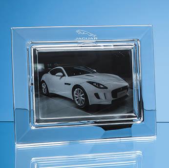 25cm Lead Crystal Plain Photo Frame for 7