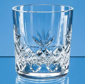 300ml Blenheim Lead Crystal Full Cut Whisky Tumbler