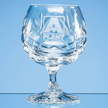 280ml Glencoe Lead Crystal Panel Brandy Glass