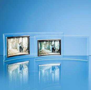 Bevelled Glass Crescent Frame for 6