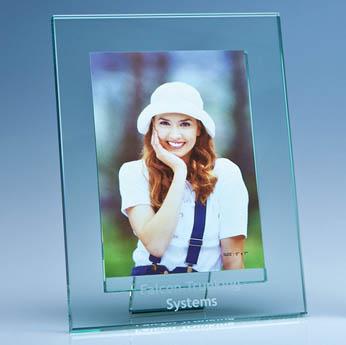 Jade Glass Photo Frame for 5