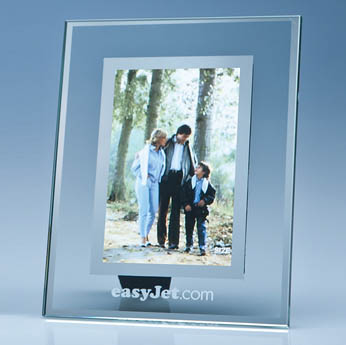 Clear Glass Frame with Mirror Inlay for 4