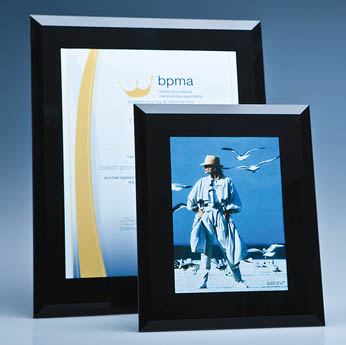 Black Surround Glass Frame for A4 Photo or Certificate, H or V