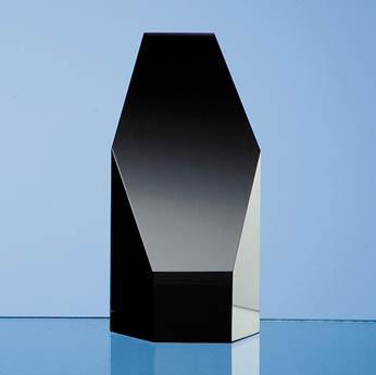 12.5cm Onyx Black Optic Hexagon Award