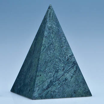 12.5cm Green Marble 4 Sided Pyramid Award*
