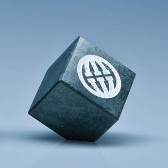 5cm Green Marble Bevel Edged Cube*