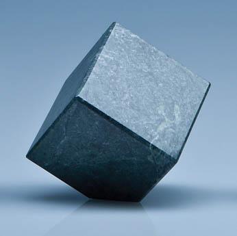 6cm Green Marble Bevel Edged Cube*