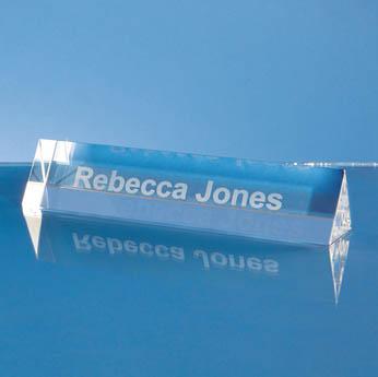 15cm Optical Crystal Name Plaque