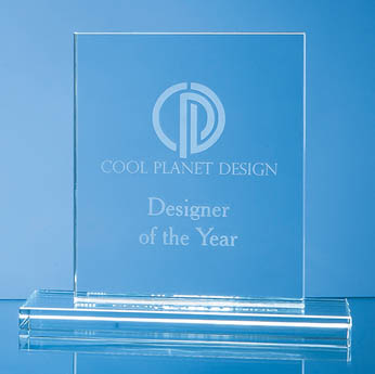 12cm x 9cm x 12mm Clear Glass Rectangle Award