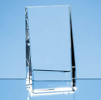 12.5cm Optical Crystal Vertical Slope Award