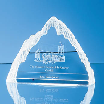 13.5cm Optical Crystal Matterhorn Award
