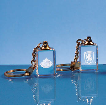 3cm Optical Crystal Keyring*